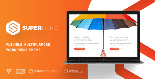 Superhero: tema creativo de WordPress multiusos – Plantillas ...