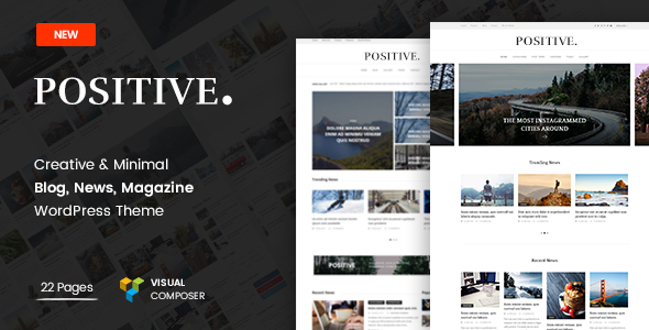 Positivo – Blog, Noticias, Revista Tema de WordPress – Plantillas ...