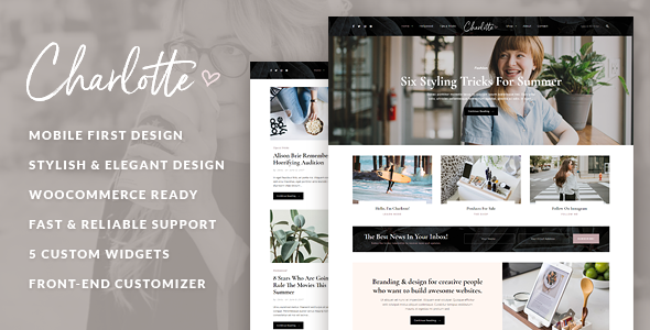 Charlotte – Blog creativo Tema de WordPress – Plantillas ...
