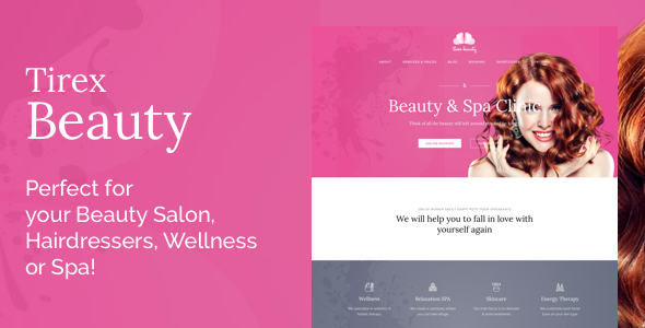 Tirex Beauty – Tema de WordPress para salones de belleza ...