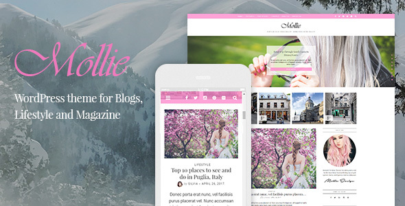Mollie – Tema del blog de WordPress hermoso y receptivo – Plantillas ...